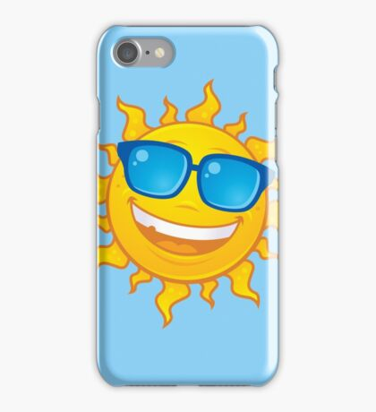 Summer Sun Wearing Sunglasses iPhone Case/Skin