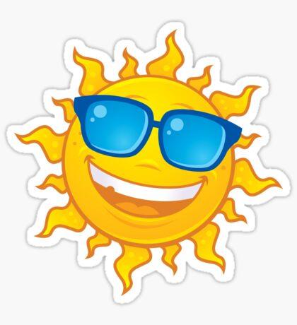 Summer Sun Wearing Sunglasses Sticker