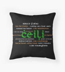 Irish Dance Ceili (Dark) Throw Pillow