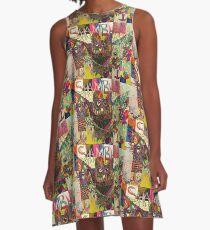 """""""Puzzle Peace"""" Shambhala 2016 Owl A-Line Dress"""