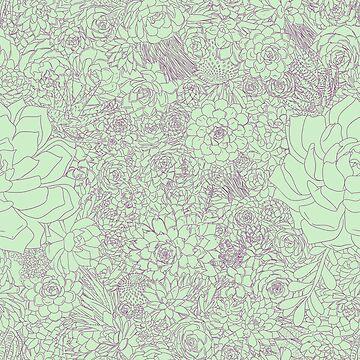 Succulents! (Pink & Green) by SachikoKawamura