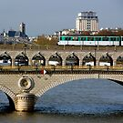 Train on a bridge by bubblehex08