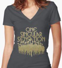 Eine Singular Sensation | Eine Chorus-Linie Tailliertes T-Shirt mit V-Ausschnitt