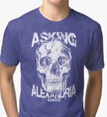 Asking Alexandria Skull England Rock N' Roll Tri-blend T-Shirt