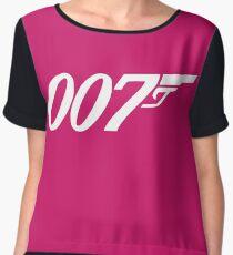 007 James Bond Sticker Vinyl Decal Gun Wall Car 12 Women's Chiffon Top