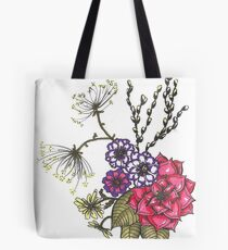 Flowers and Pussy Willows Tote Bag