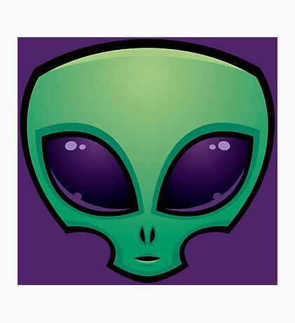 Alien Head Icon Photographic Print