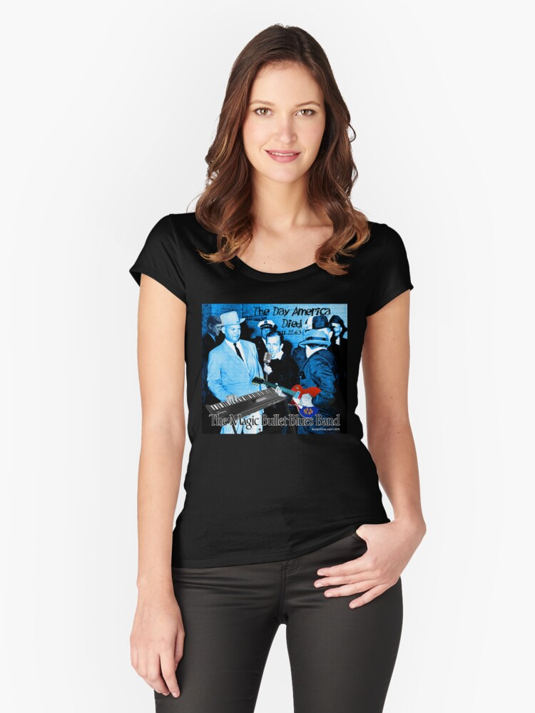 The Magic Bullet Blues Band Women's Fitted Scoop T-Shirt Front