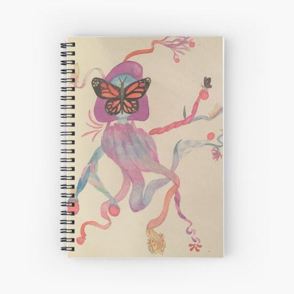 Butterfly Ribbon Lady Spiral Notebook