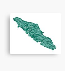 Vancouver Island Cities Canvas Print
