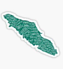 Vancouver Island Cities Sticker