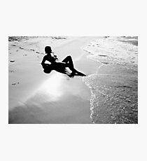 Just Me and the Sea Photographic Print
