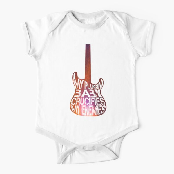 Muse Plugin Baby - guitar Short Sleeve Baby One-Piece
