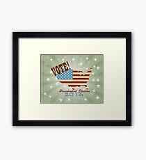 Vote 2016 Presidential Election Retro Framed Print