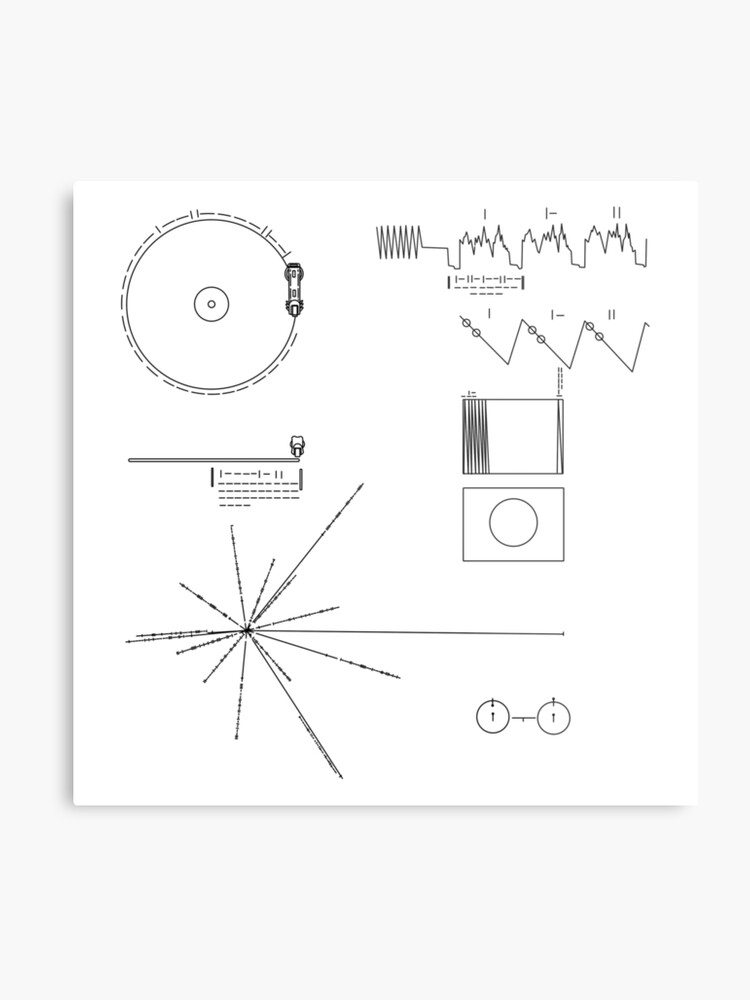 The Voyager Golden Record Metal Print By Leakeg