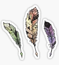 Watercolor Quill design Sticker