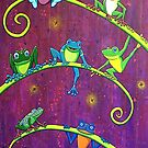 Froggy Family Hangin Around by chongolio