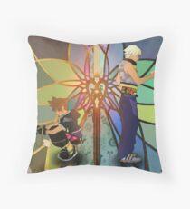 Sora and Riku - Kingdom Hearts 3D Throw Pillow