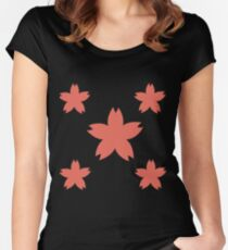 Sakura Cherry Blossom Floral Pattern  Women's Fitted Scoop T-Shirt