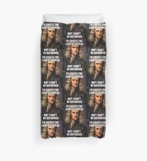Sir Isaac Newton Meme Duvet Cover