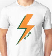 University of Miami Lightning Bolt Artwork T-Shirt