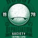 Robot Depreciation Society - Marvin the Paranoid Android by Adho1982