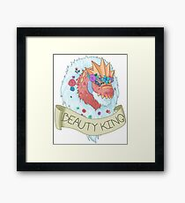 Flower Crown Tyrantrum - Beauty King Framed Print