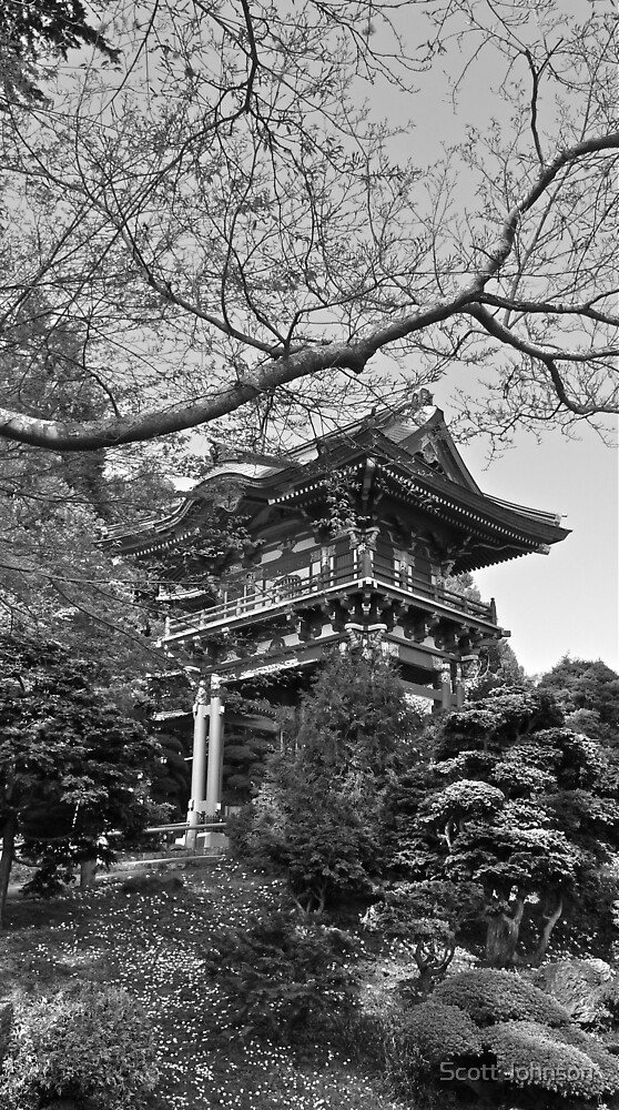 Pagoda, Japanese Tea Garden, San Francisco, CA by Scott Johnson