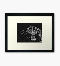Swinging in the Moonlight Framed Print