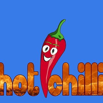 Hot Chilli Funny Cartoon T-Shirt by deanworld