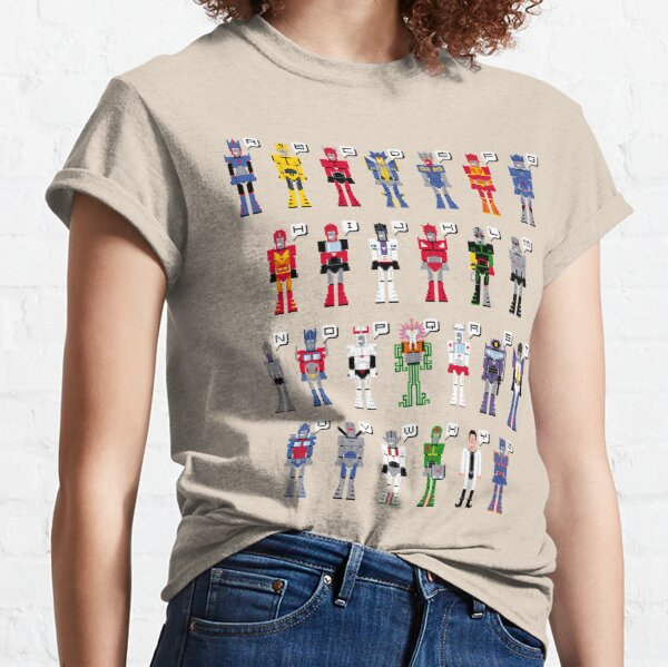 Transformers Alphabet Classic T-Shirt