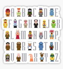Muppet Alphabet Sticker