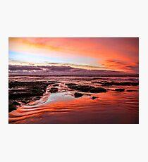 Speccy sunset  Photographic Print