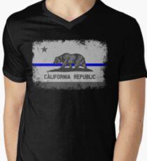 Blue Line California State Flag T-Shirt