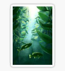 Fish and Kelp Sticker