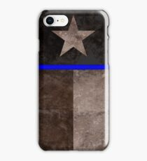 Thin Blue Line Texas Flag Police Badge iPhone Case/Skin