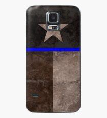 Thin Blue Line Texas Flag Police Badge Case/Skin for Samsung Galaxy