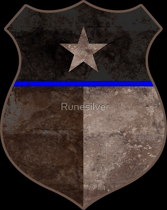Quot Thin Blue Line Texas Flag Police Badge Quot By Runesilver