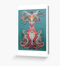 Lady Octopus Greeting Card