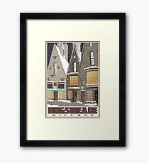 Hogsmeade Village Travel Poster Framed Print