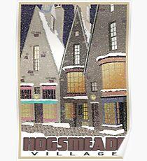 Hogsmeade Village Travel Poster Poster