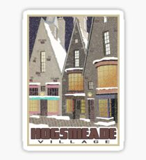 Hogsmeade Village Travel Poster Sticker