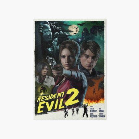 Resident Evil 2 Movie Style Gaming Art Board Print
