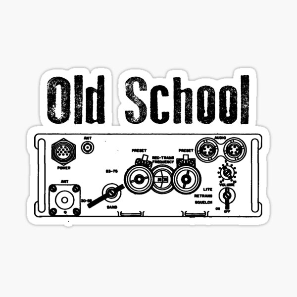 Old School PRC 77 Sticker