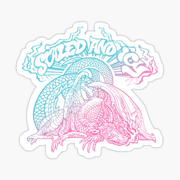 trash and icy Sticker