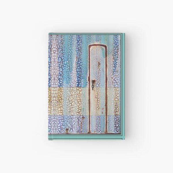 Peeling Paint Tribal Rustic Mandala-style Mosaic Pattern - Yellow Blue Jade  - Vicki Hadfield Hardcover Journal