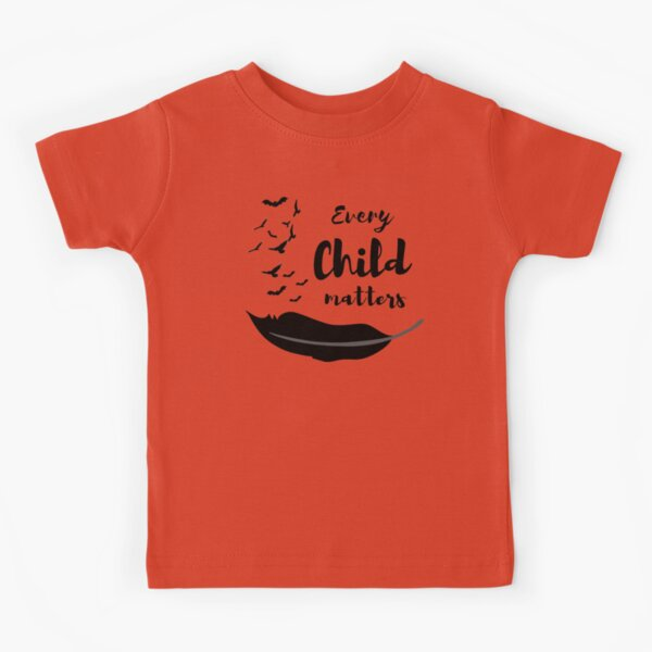 Every Child Matters Design With Birds Feather Truth and Reconciliation Kids T-Shirt