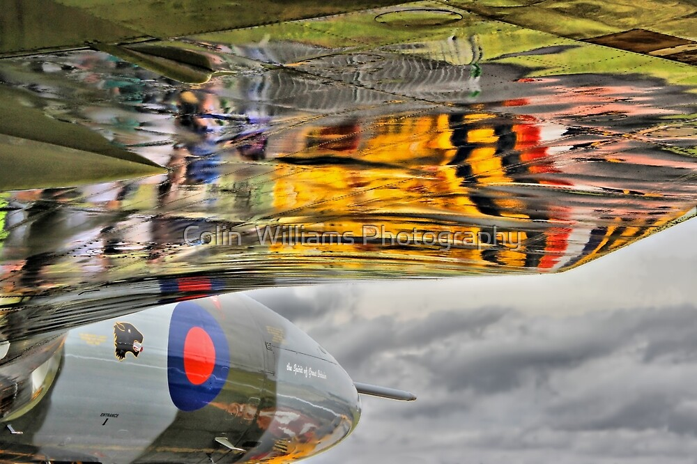 Vulcan Reflections Farnborough 2014 by Colin  Williams Photography