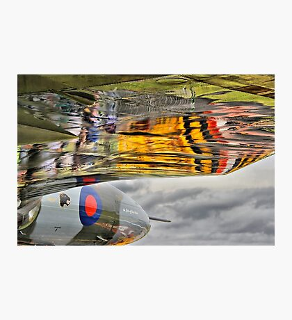 Vulcan Reflections Farnborough 2014 Photographic Print