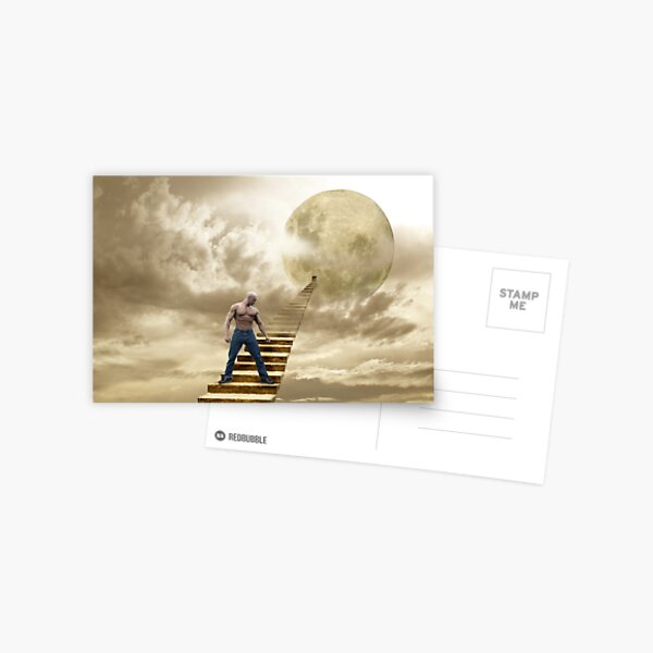 THERE'S A MAN ON THE MOON Postcard